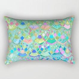 Art Deco Watercolor Patchwork Pattern 1 Rectangular Pillow