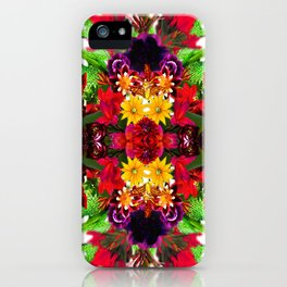 Psychedelic Floral Kaleidoscope #1  iPhone Case