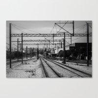 train Canvas Prints featuring Train by Maressa Andrioli