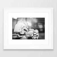 gundam Framed Art Prints featuring Thinking Gundam by Long Thai - mineralblu.com