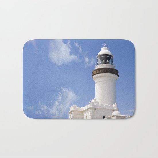 Byron Bay Lighthouse blue Sky Bath Mat
