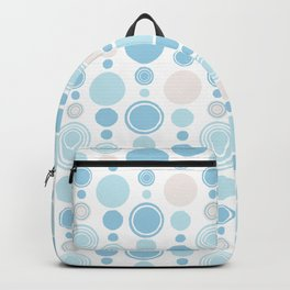 Concentric Circles Modern Hand Drawn Ink Pattern - Light Blue Backpack