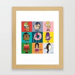 80's Dessert Icons Framed Art Print