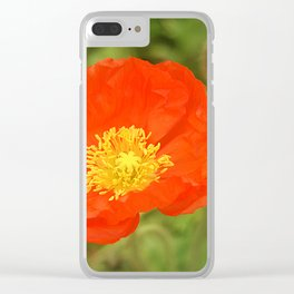 Orange Poppy Clear iPhone Case