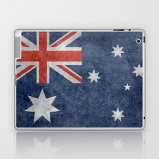 The National flag of Australia, retro textured version (authentic scale 1:2) Laptop & iPad Skin