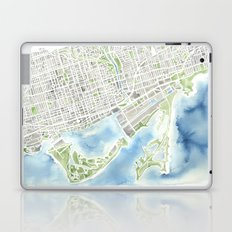 Toronto Canada Watercolor city map Laptop & iPad Skin