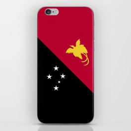 Papua New Guinea flag emblem iPhone Skin