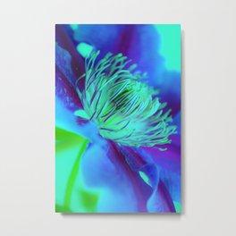 Flower Dreamer Blue Metal Print