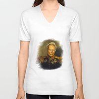 replaceface V-neck T-shirts featuring Clint Eastwood - replaceface by replaceface