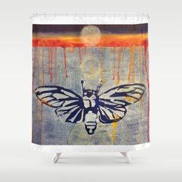 Eclipse Cicada Shower Curtain