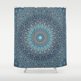 Tracery colorful pattern Shower Curtain