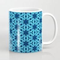 knitting Mugs featuring blue Knitting by clemm