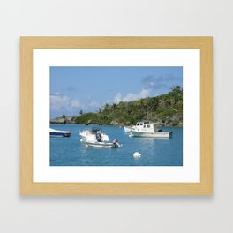 Boating in Bermuda Framed Art Print