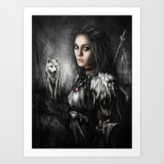 Northern Wolf Art Print
