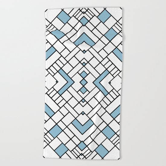 PS Grid 45 Sky Blue Beach Towel