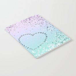 Sparkling MERMAID Girls Glitter Heart #1 #decor #art #society6 Notebook