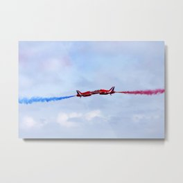 The Red Arrows synchro pair Metal Print