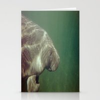 manatee Stationery Cards featuring Manatee by Twilight Wolf