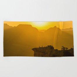 Grand Canyon sunrise Beach Towel