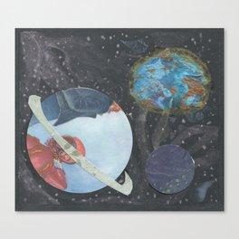 3D Space Canvas Print