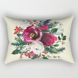 Christmas Winter Floral Bouquet No Text Rectangular Pillow