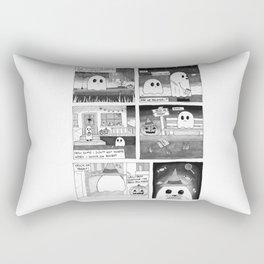 Trick or Treat Ghost Comic Rectangular Pillow