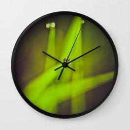 green drops Wall Clock