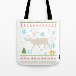 Caribou Hunting Christmas Ugly Holiday Shirt Tote Bag