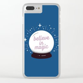 "Crystal ball ""believe in magic"" Clear iPhone Case"