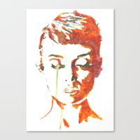 audrey hepburn Canvas Prints featuring Audrey Hepburn by Geryes