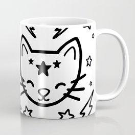 Mystic Cat - Black Coffee Mug