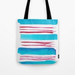 11  |181026 Lines & Color Block | Watercolor Abstract | Modern Watercolor Art Tote Bag