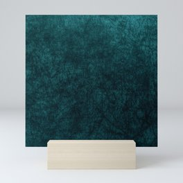 Teal Blue Velvet Texture Mini Art Print