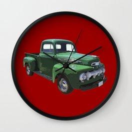 Green 1951 Ford F-1 Pickup Truck  Wall Clock