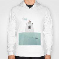 polar bear Hoodies featuring Polar bear by missmalagata
