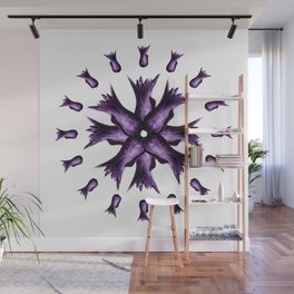 Purple Tulip Mandala Wall Mural