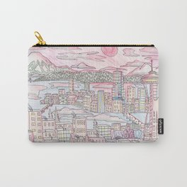 Seattle in Colored Pencil Carry-All Pouch