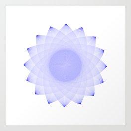 AFRAD 'SINGULAR'   16-POINT MANDALA (BLUE) Art Print