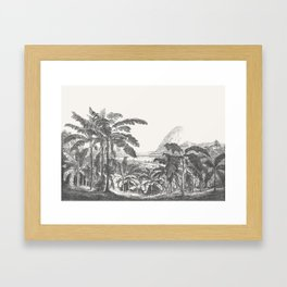 Palms and Mountain Framed Art Print