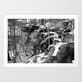 A winter hike in Athens Art Print