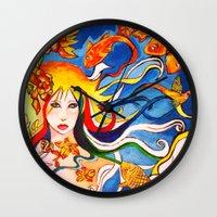 destiny Wall Clocks featuring Destiny by Ming Myaskovsky