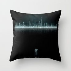 TRON CITY Throw Pillow