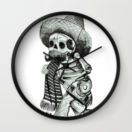 The Happy Skeleton Wall Clock