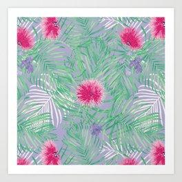 Calliandra Palms in Violet Art Print