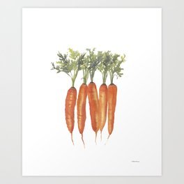 Carrots Watercolor Art Print