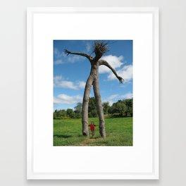 Tree Man and Boy Framed Art Print