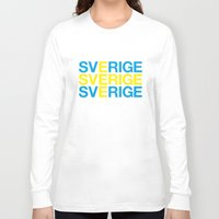 sweden Long Sleeve T-shirts featuring SWEDEN by eyesblau