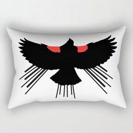 Seasons K Designs Red Winged Blackbird for Salty Raven Rectangular Pillow