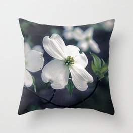 Dogwood Blooms Throw Pillow