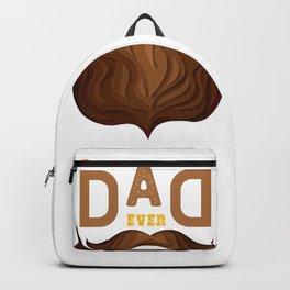 Best dad ever 3d paper cut hipster beard Backpack